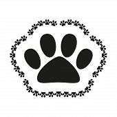 picture of animal footprint  - Pet shop logo with pet paw - JPG