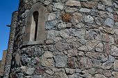 stock photo of apostolic  - The window of the cell in the church in Khow Virap