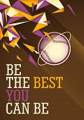 foto of hitter  - Abstract baseball poster in color - JPG