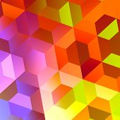 image of trippy  - Abstract Colorful Hexagons Background Design  - JPG
