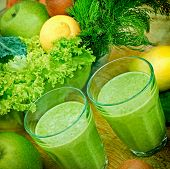 pic of smoothies  - Green smoothie  - JPG