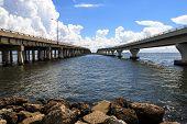 pic of gulf mexico  - Two bridges - JPG