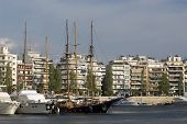 stock photo of piraeus  - Panoramic view of the Marina Zea Piraeus Greece - JPG