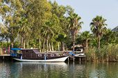 image of dalyan  - A old Boat in Dalyan River - JPG