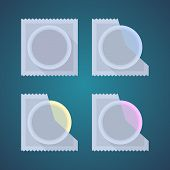 picture of condom  - Flat icons of colored condom - JPG