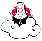 image of nun  - Horror nun in the devil  - JPG