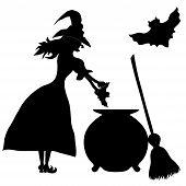picture of sweeper  - Halloween banner  - JPG