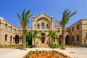 picture of carmelite  - A 19th century Carmelite monastery building in Haifa Israel - JPG