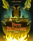 foto of witches cauldron  - Halloween vector illustration  - JPG