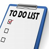 stock photo of clipboard  - to do list clipboard with check boxes on it - JPG