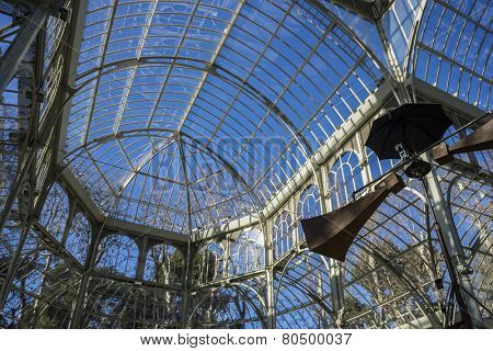 Travel, Crystal Palace in the Retiro park Madrid, Spain
