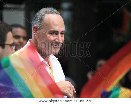Charles Schumer In Nyc Lgbt Gay Pride March 2010