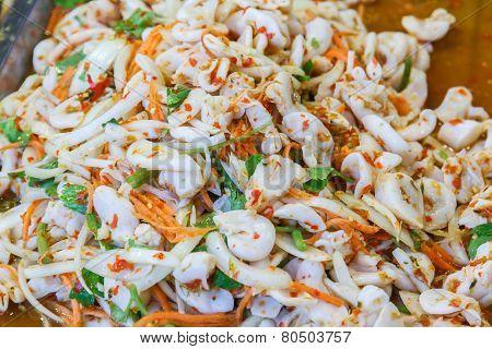 Squid Salad Spicy