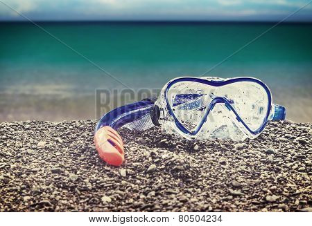 Goggles And Snorkel Diving