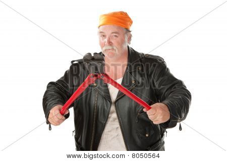 Man With Bolt Cutter