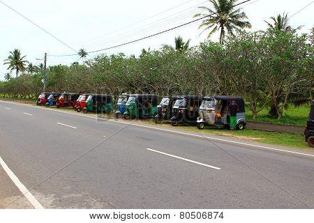 Parking tuk-tuk