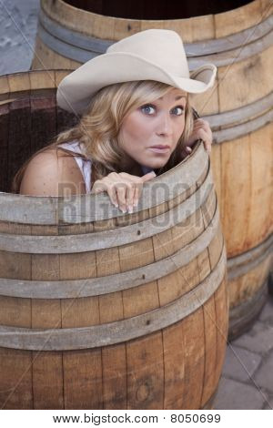 Girl In A Barrel