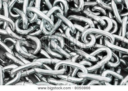 Long Silver Chain Arranged As The Background