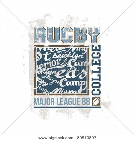 College Print Rugby Team