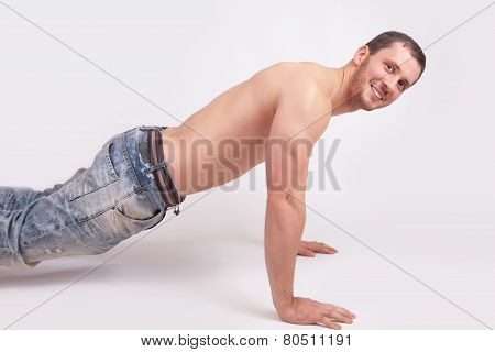 Young Man Pushed Off The Floor