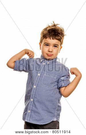 little boy in pose, symbol of childhood, uncertainty