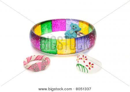 Children's Bracelet And Rings