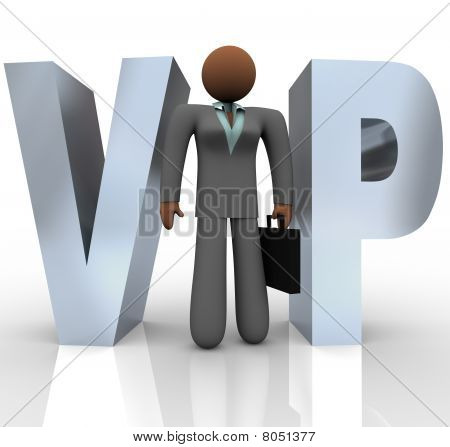 Vip - Businesswoman In Word
