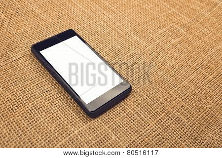 Smartphone On Desktop