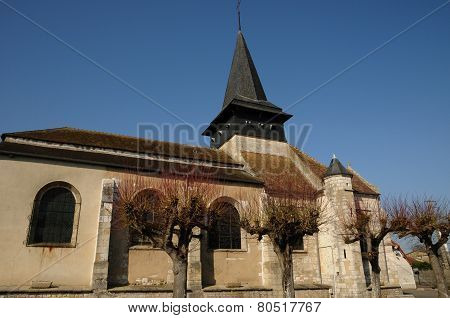 Historical Church Of Gasny In L Eure