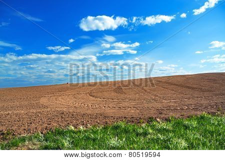 Agricultural Arable Land Field In The Spring For Crops