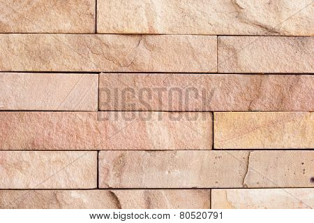 Old Wall Stone Tiles Background