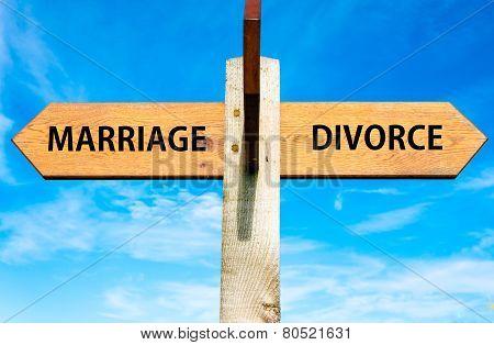 Marriage versus Divorce messages