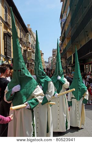 Malaga Holy Week Procession.