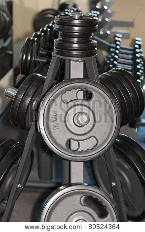 Barbell Plates In The Gym