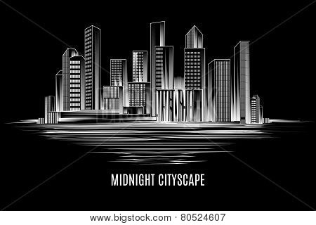 City building, urban cityscape