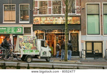 Hash Marijuana & Hemp Museum in red-light district of Amsterdam