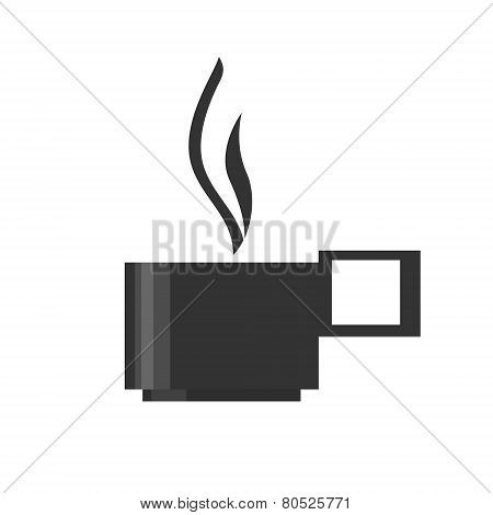 The Cup With A Hot Drink, Vector Illustration