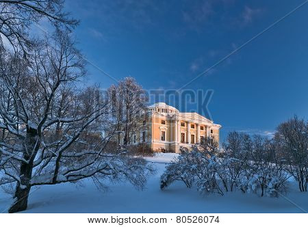 Pavlovsky Palace In Winter