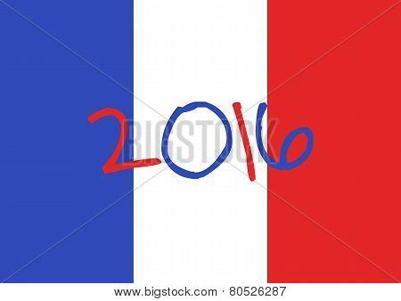 France 2016 Football Poster.