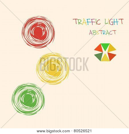 Abstract Traffic Light Colorful Background.