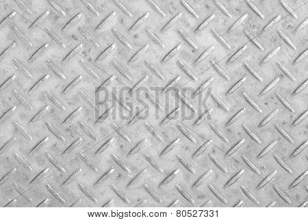 White metal diamond plate background and texture