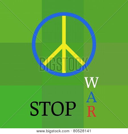 Stop War In Ukraine.  Peace Poster.