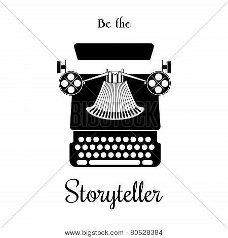 Typewriter vector card - be the Storyteller