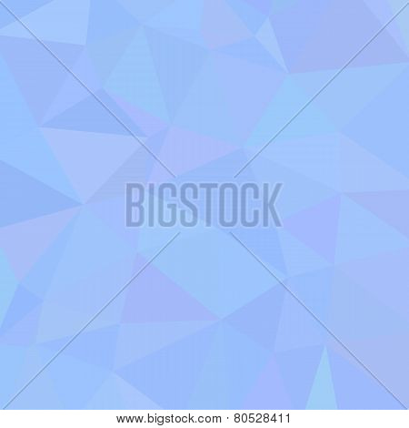 Abstract Triangle Background With Heart. Sky Palette