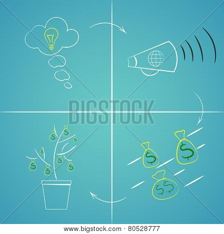 Infographic Crowdfunding Concept. Business Concept Illustration