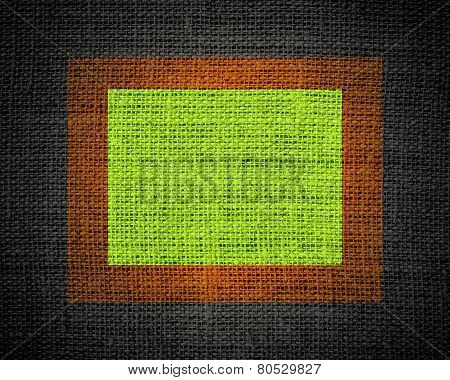 Lime linen rustic jute texture or background