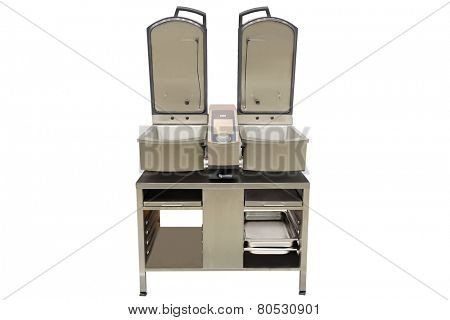 professional deep fryer isolated under the white background