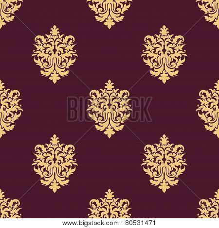 Yellow sparse flowers in seamless pattern