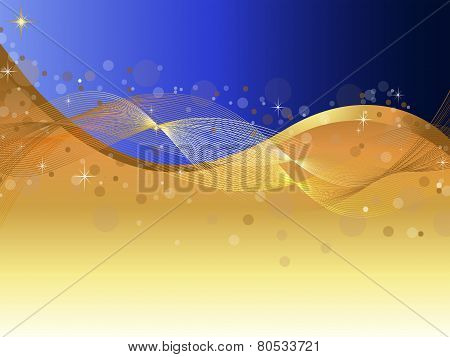 Abstract-Blue & Gold