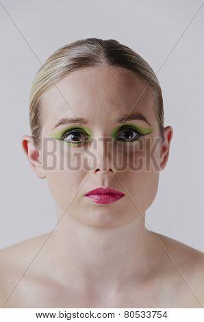 fashion portrait of a blonde woman